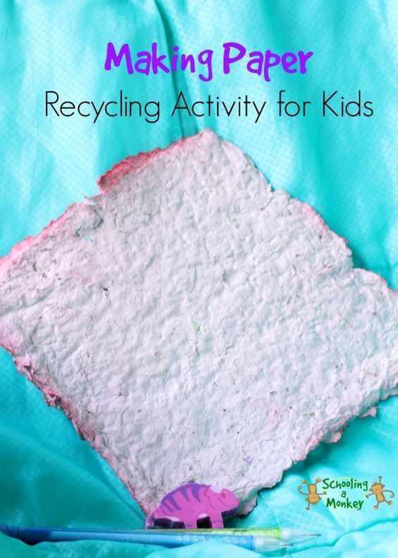 How To Make Recycled Paper At Home Recycling Activities