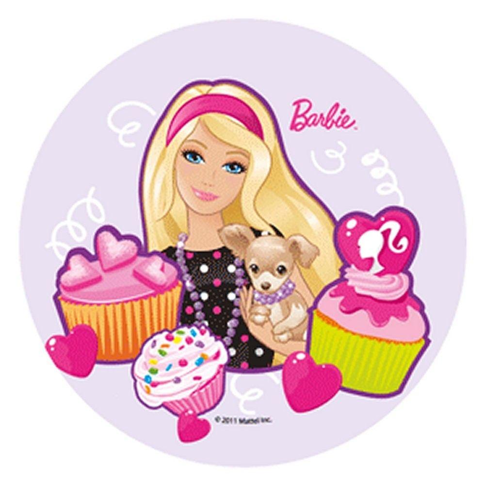 discos de azucar barbie - Buscar con Google | Deco