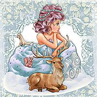 Snow Maiden - Digital Stamp - $3.00 : Digital Stamps, Scrapbooking, Crafts, Artisan Resources, cardMaking, Paper Crafts, Digital Crafting by The Paper Shelter