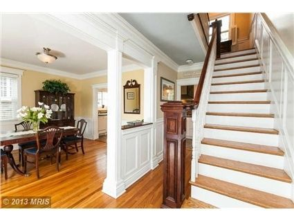 Side Hall Colonial Opening Up A Center Hall Colonial Center Hall Colonial Colonial House Interior Open Dining Room