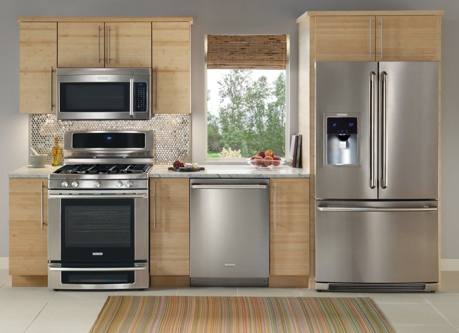 New Electrolux Stainless Steel 4 Piece Appliance Package With Adorable Kitchen Cabinet Packages Decorating Design