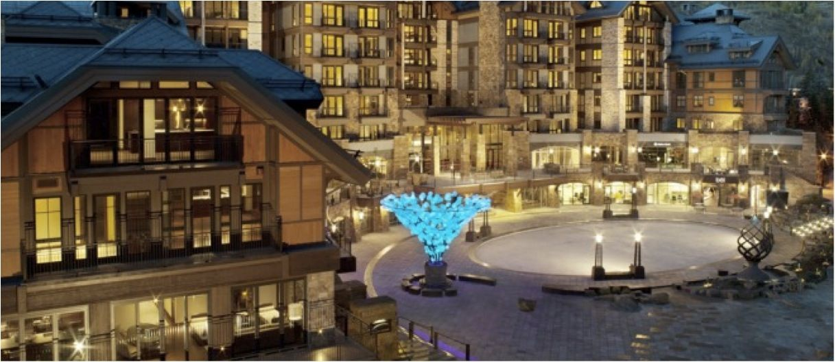Equity Estates Destination in Vail, Colorado. The building