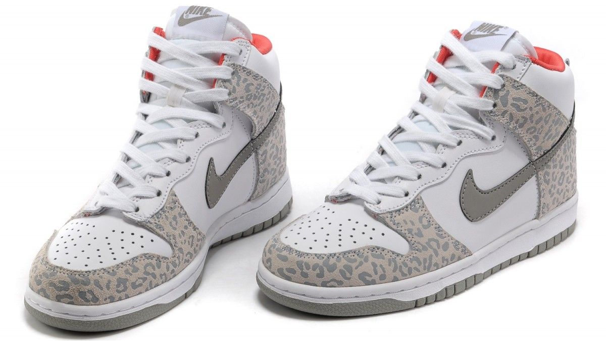 leopard nike dunk high
