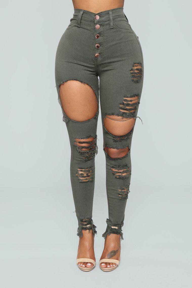 4b5f101fdd0 Take Back Home Girl Skinny Jeans - Olive in 2019