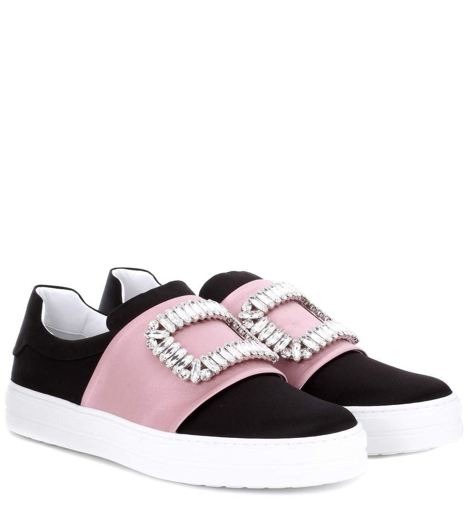 Sneaky Viv embellished satin sneakers Roger Vivier IFT5Jngqy