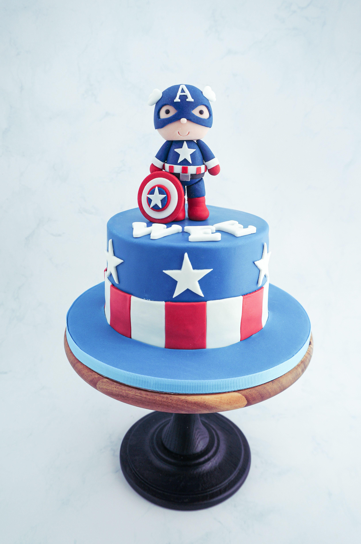 Captain america cake captain america cake america cake