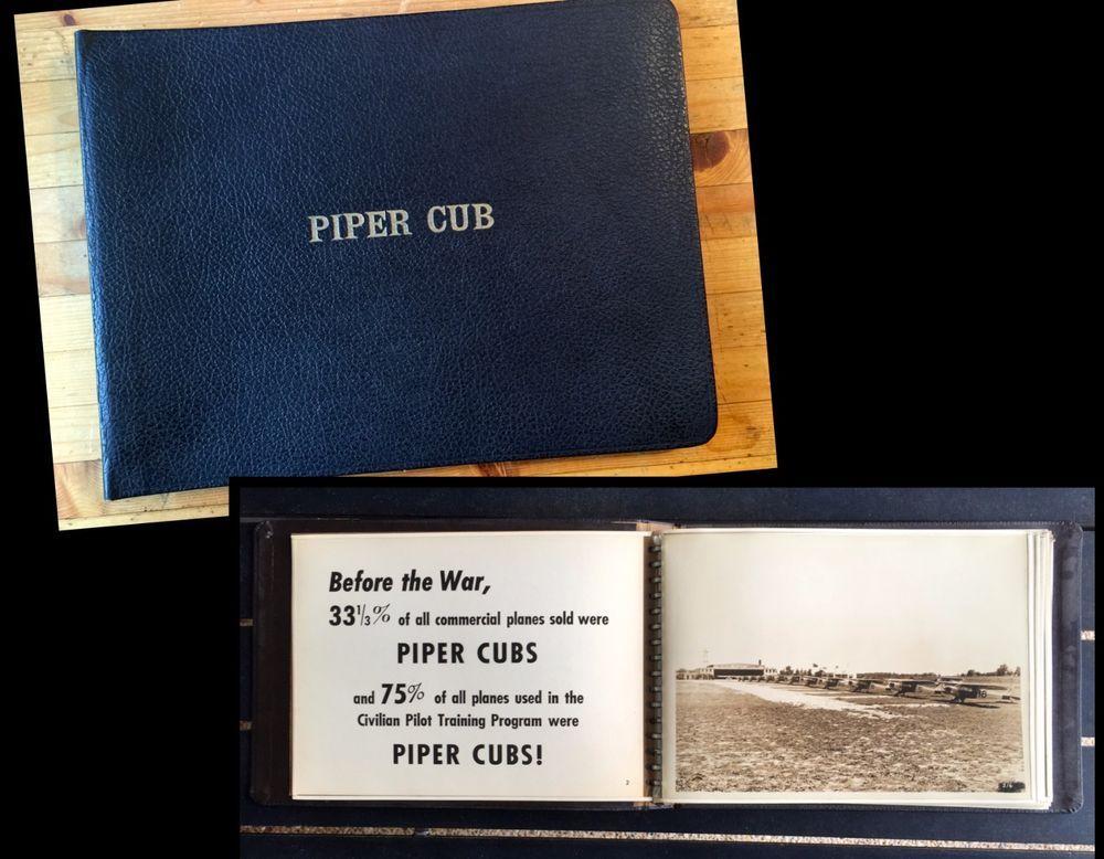 piper cub dealer salesman presentation photograph binder book