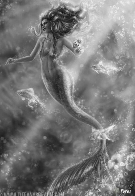 Mermaid Siren Fantasy Myth Mythical Mystical Legend Coloring pages
