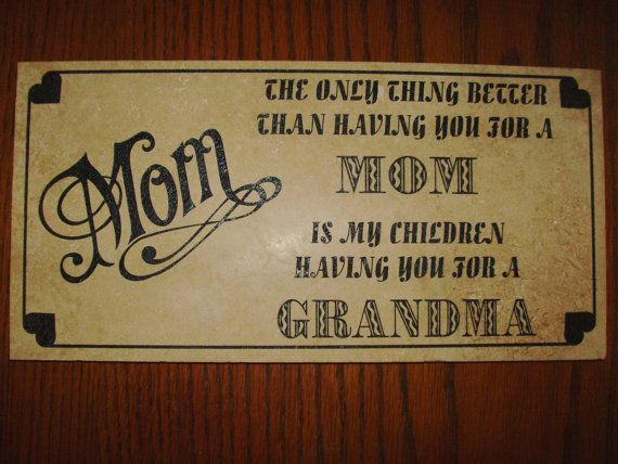 Mom/Grandma etched in stone by SomeLikeItEtched on Etsy