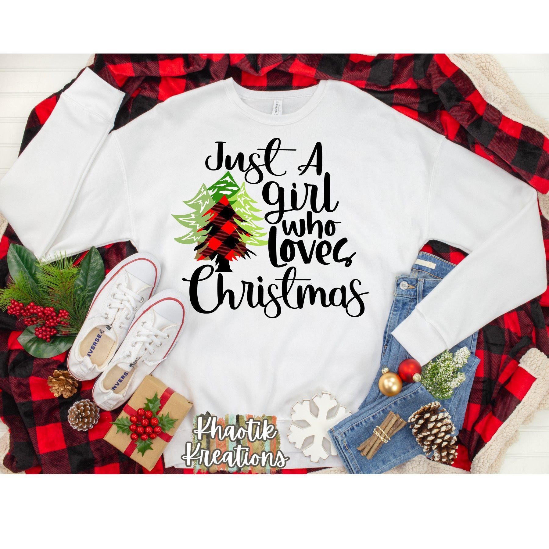 Just A Girl Who Loves Christmas Svg, Christmas Svg