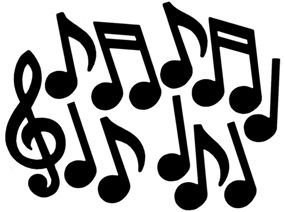 Karaoke party music notes decorations