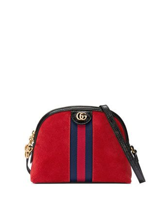 157e35bb1ddbcc Linea+Dragoni+Suede+Small+Chain+Shoulder+Bag+by+Gucci+at+Neiman+Marcus.