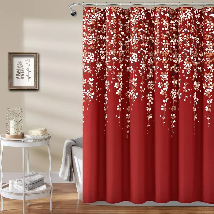 Weeping Flower Shower Curtain Lush Decor In 2020 Floral Shower