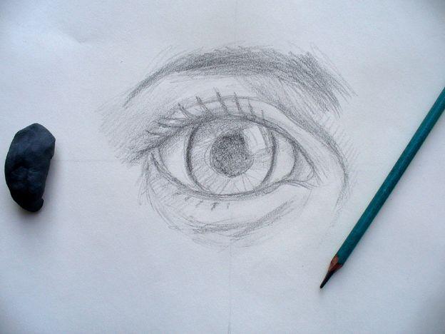dibujar ojos humanos y animes