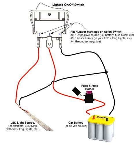 On Off Switch Led Rocker Switch Wiring Diagrams Oznium Trailer Wiring Diagram Automotive Repair Boat Wiring