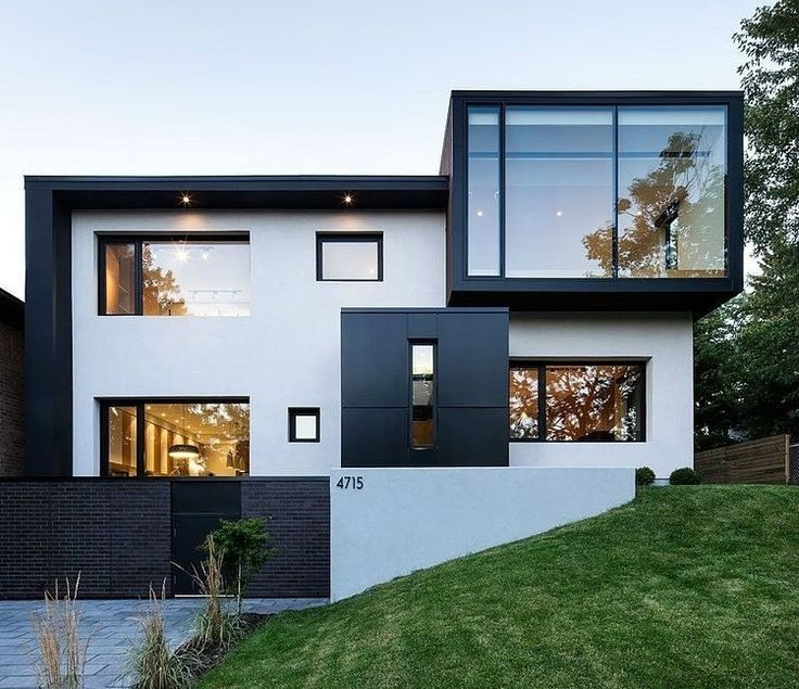 Contemporary Home Exterior Design Ideas: Exterior In Black And White