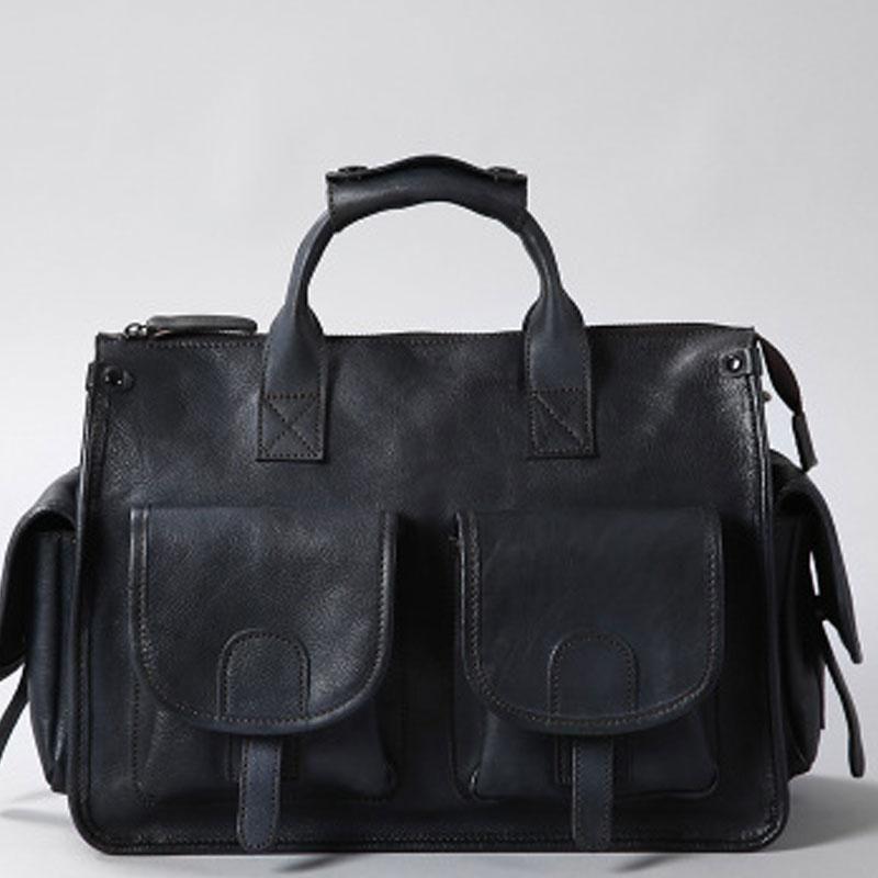16439c4693 Handmade Genuine Leather Vintage Brown Mens Travel Bag Cool Messenger Bag  Shoulder Bag Handbag for Men