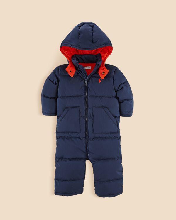 6a384884 Ralph Lauren Infant Boys' Matte Snowsuit - Sizes 9-24 Months ...
