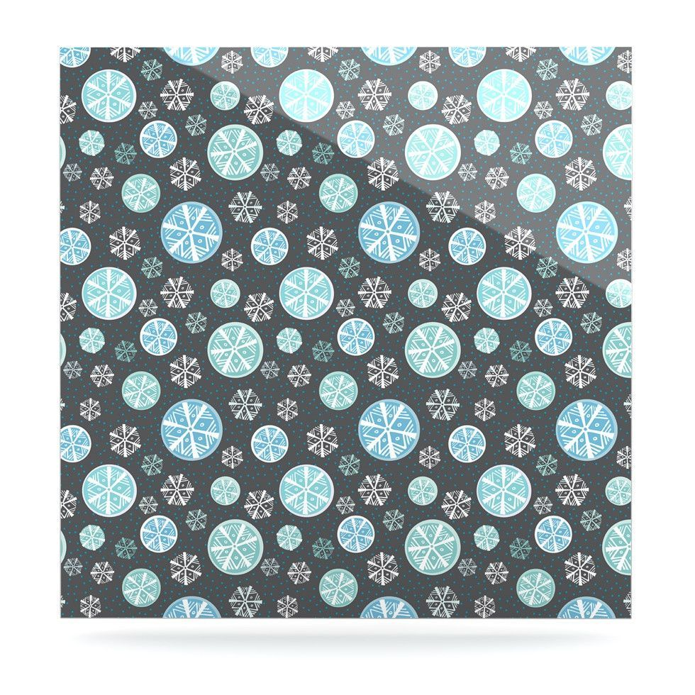 "Julie Hamilton ""Midnight Snow"" Winter Luxe Square Panel"