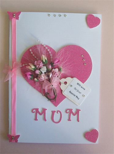 Handmade Mothers Day Card With Beautiful Bouquet Code 220 At