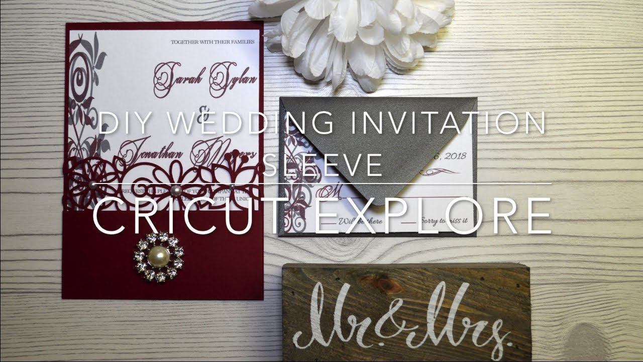 Wedding Invitations Cricut Diy Diy Wedding Invitation