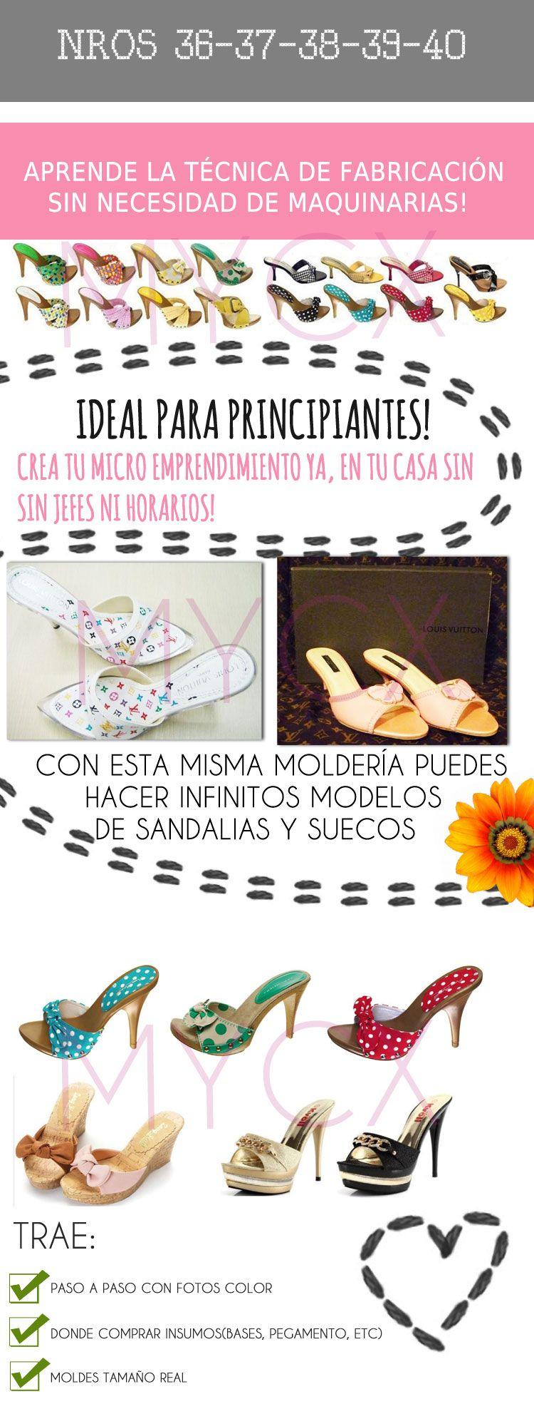 Moldes Patrones Zapatos Sandalias Mujer 36-37-38-39-40 - $ 45,00 en MercadoLibre