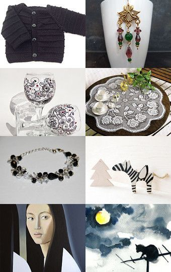 In the evening, all the cats are grey or black by Nathalie on Etsy--Pinned with TreasuryPin.com