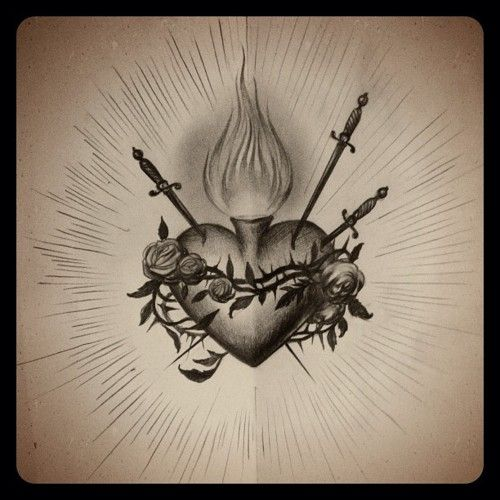 sacred heart tumblr tattoos and such pinterest sacred heart tattoo and tatting. Black Bedroom Furniture Sets. Home Design Ideas