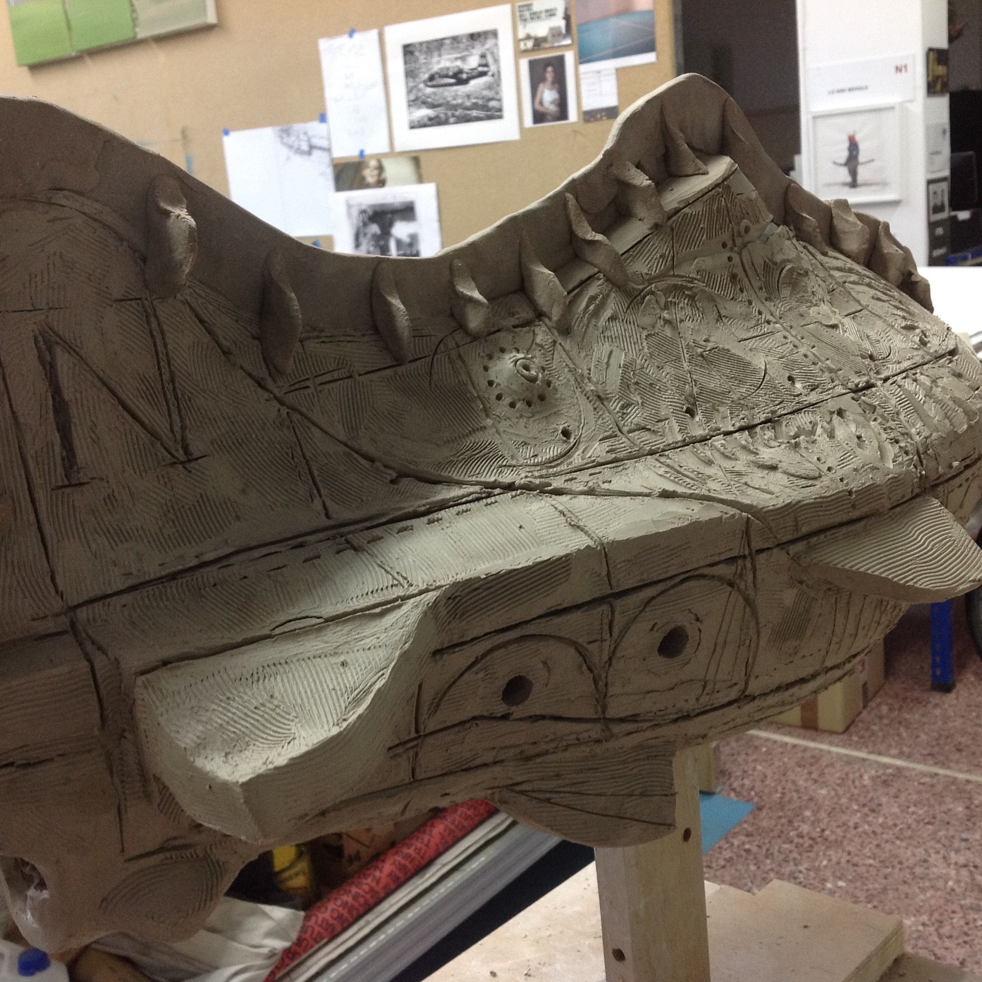 "Construction of ""Nautilus""at my studio, Nikos Papadimitriou Nov 2015."