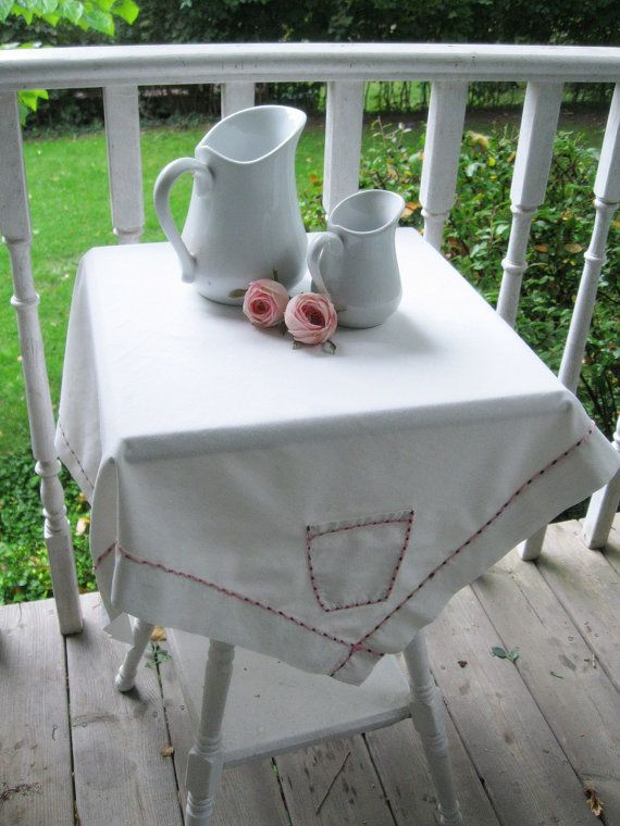 table topper tablecloth card table pockets tea by mailordervintage