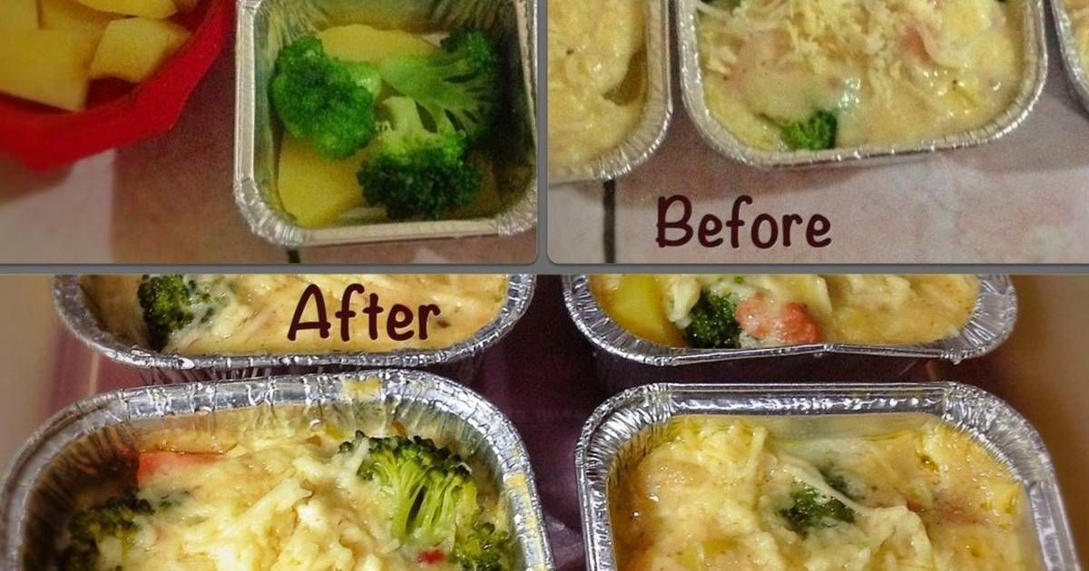 Resep Brokoli Kentang Panggang Keju Oleh Murtiningrum Resep Kentang Panggang Brokoli Resep