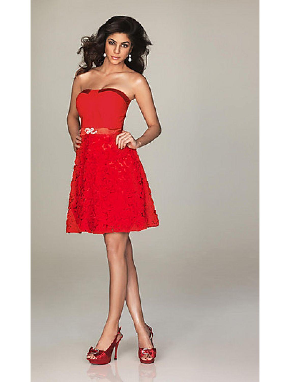 Schicke Kleider Homecoming Kleider Cocktailkleid Rot