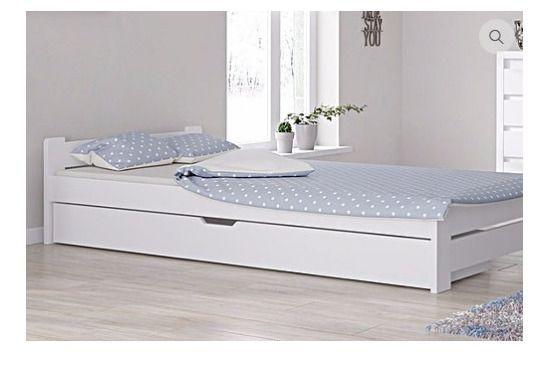 Doppelbett Bettgestell 120x200 Weiss Bettkasten Schublade Weiss