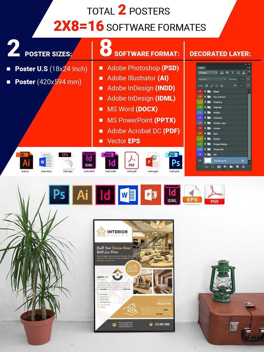 Poster Interior Design Service V1 Interior design