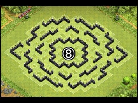 Base Coc Th 8 Labirin 1