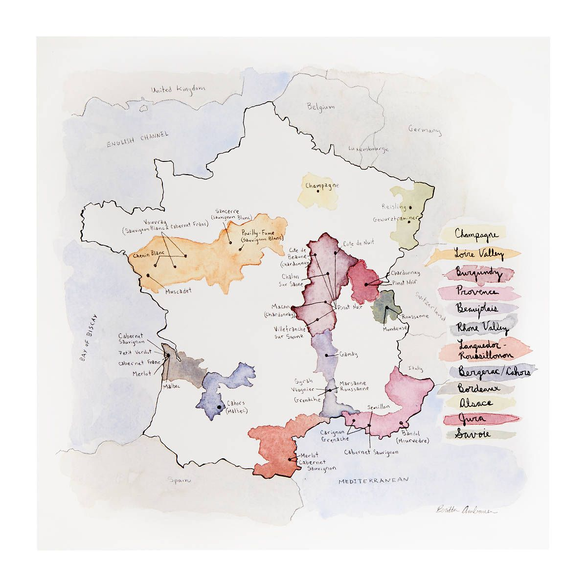 Map Of France To Print.Wine Regions Of France Print In 2019 Products French Wine