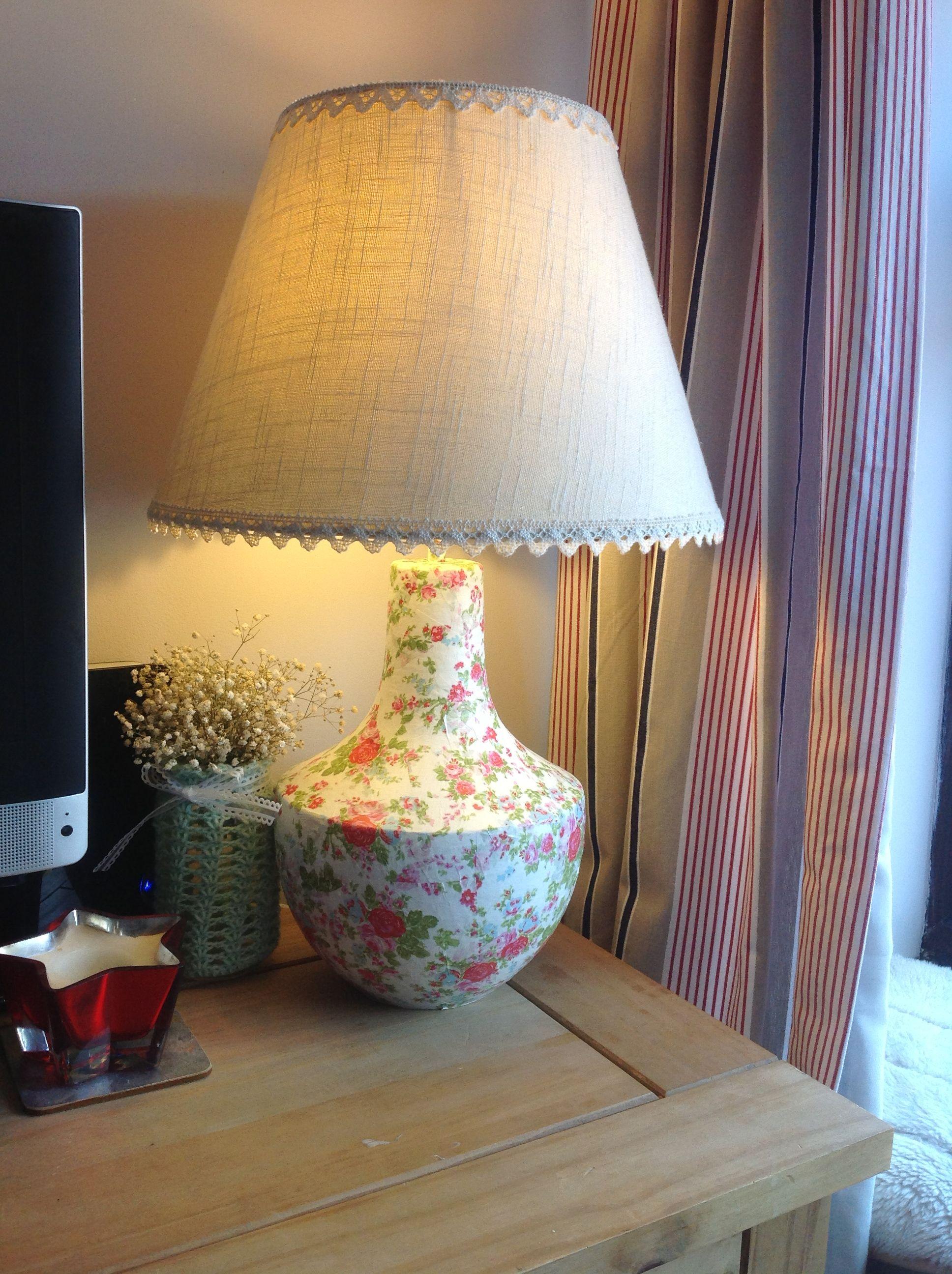 Decoupage lamp base