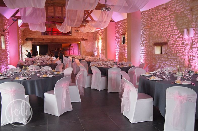 Decoration de mariage rose pale tours chatellerault for Decoration de salle