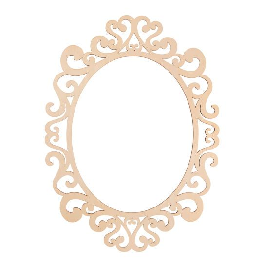 Fancy Oval Laser Cut 11 Quot X 14 Quot Wood Frame By Artminds