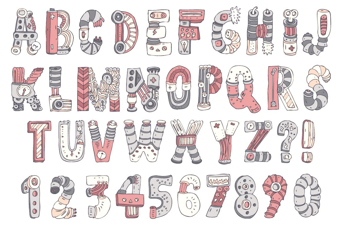 Pin By Harshita Heliwal On Mechaical Fonts Creative Lettering Alphabet Design Lettering Alphabet