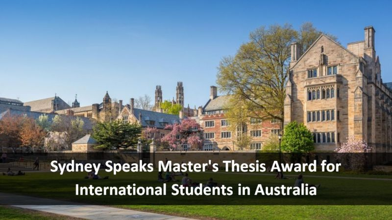 Master thesis scholarship