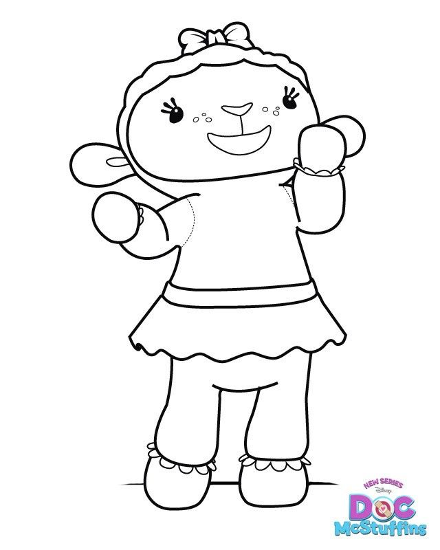Doc Mcstuffins Lambie Coloring Pages Emily Doc Stuff Doc