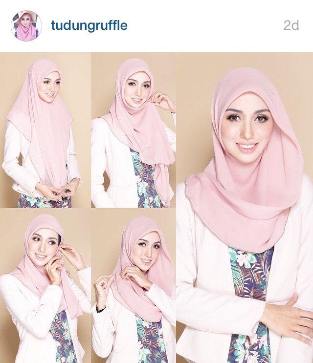 Pin Oleh Di Hijab Tutos Casual Hijab Outfit Kerudung