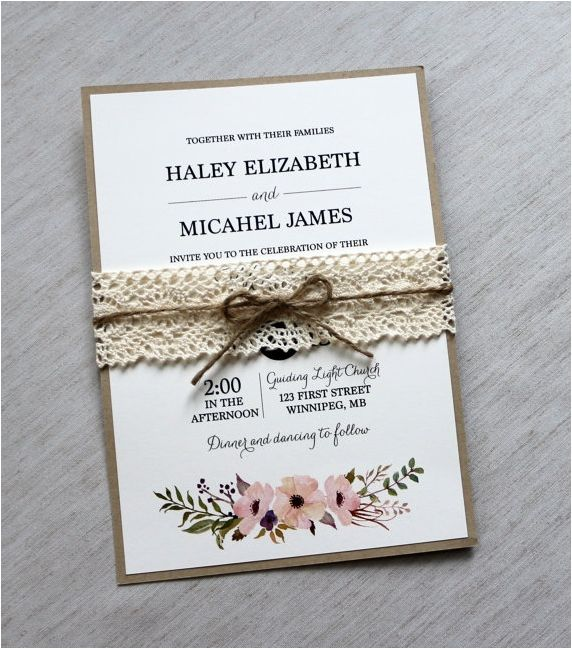 Rustic Wedding Invitation Inspiration For Your Rustic Wedding