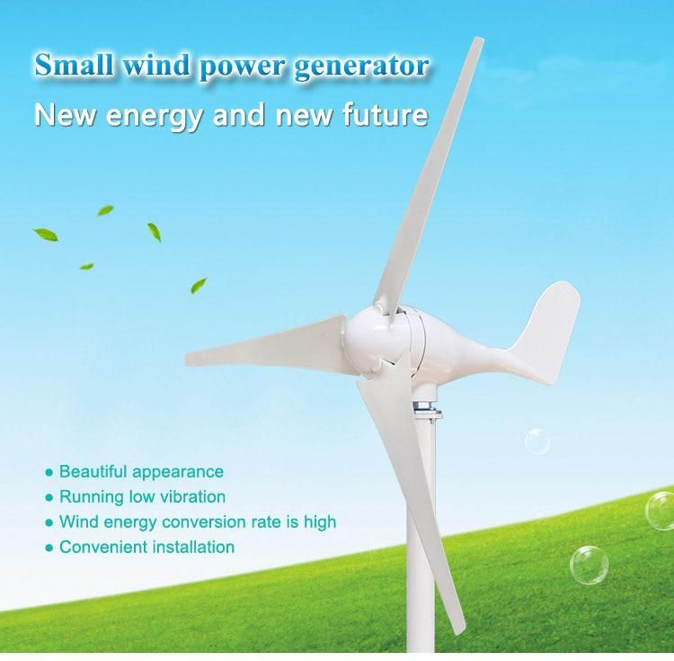 400W Wind Turbines Three Phase AC 12V/24V 5 blades with white/black