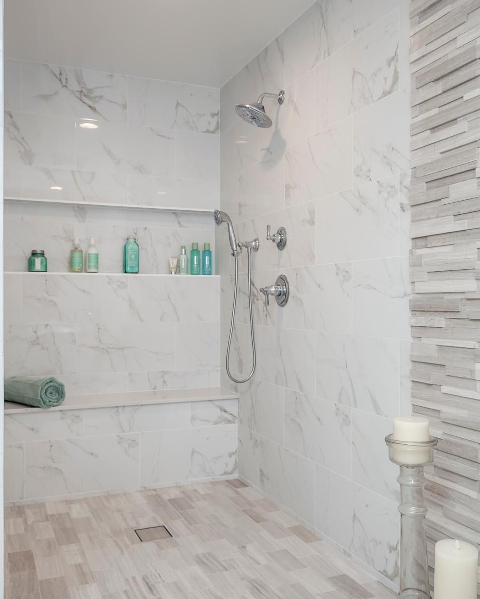 Wet Room With Lots Of Texture And Dimension Bathtub Walls Bathroom Shower Stalls