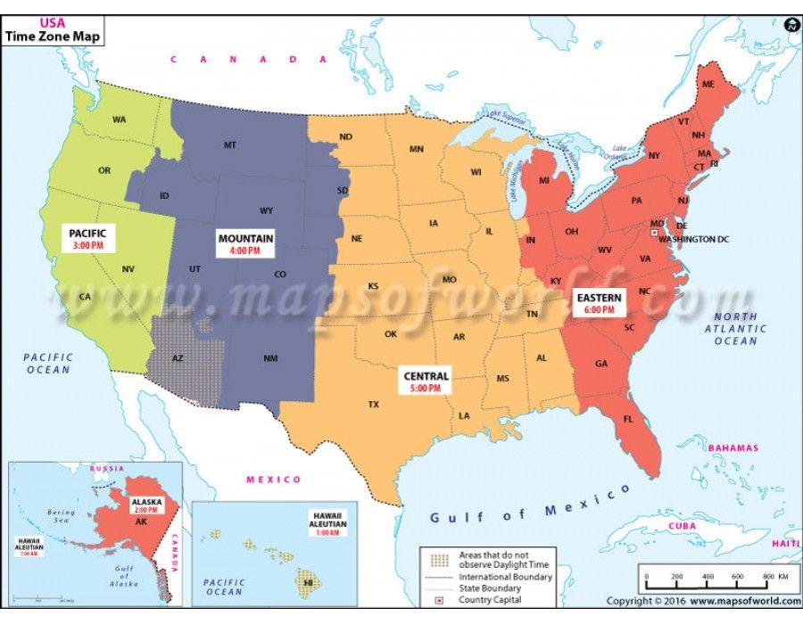 Buy Us Time Zone Map Time Zone Map Map Time Zones