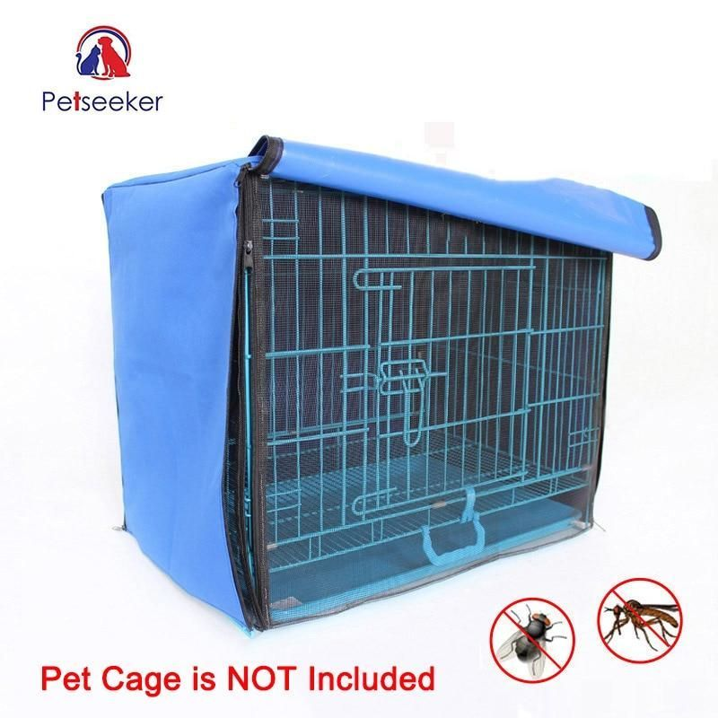 Dog Cage Cover Foldable Anti Mosquito Tent Waterproof Oxford Pet Crate Cover For Wire Crate Dog Kennel Cage Blanket Withou Dog Cages Dog Kennel Cheap Dog Cages