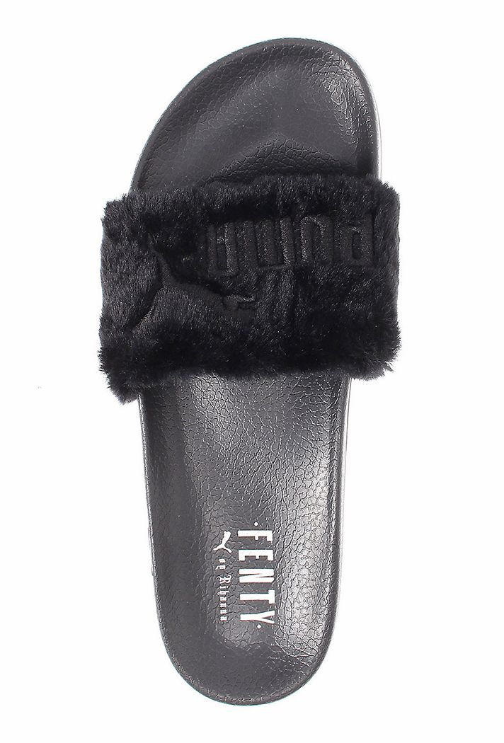 eb1b147192c2 Rihannas Furry Puma Slides Have Arrived—Heres Where to Get Them Before They  Sell Out