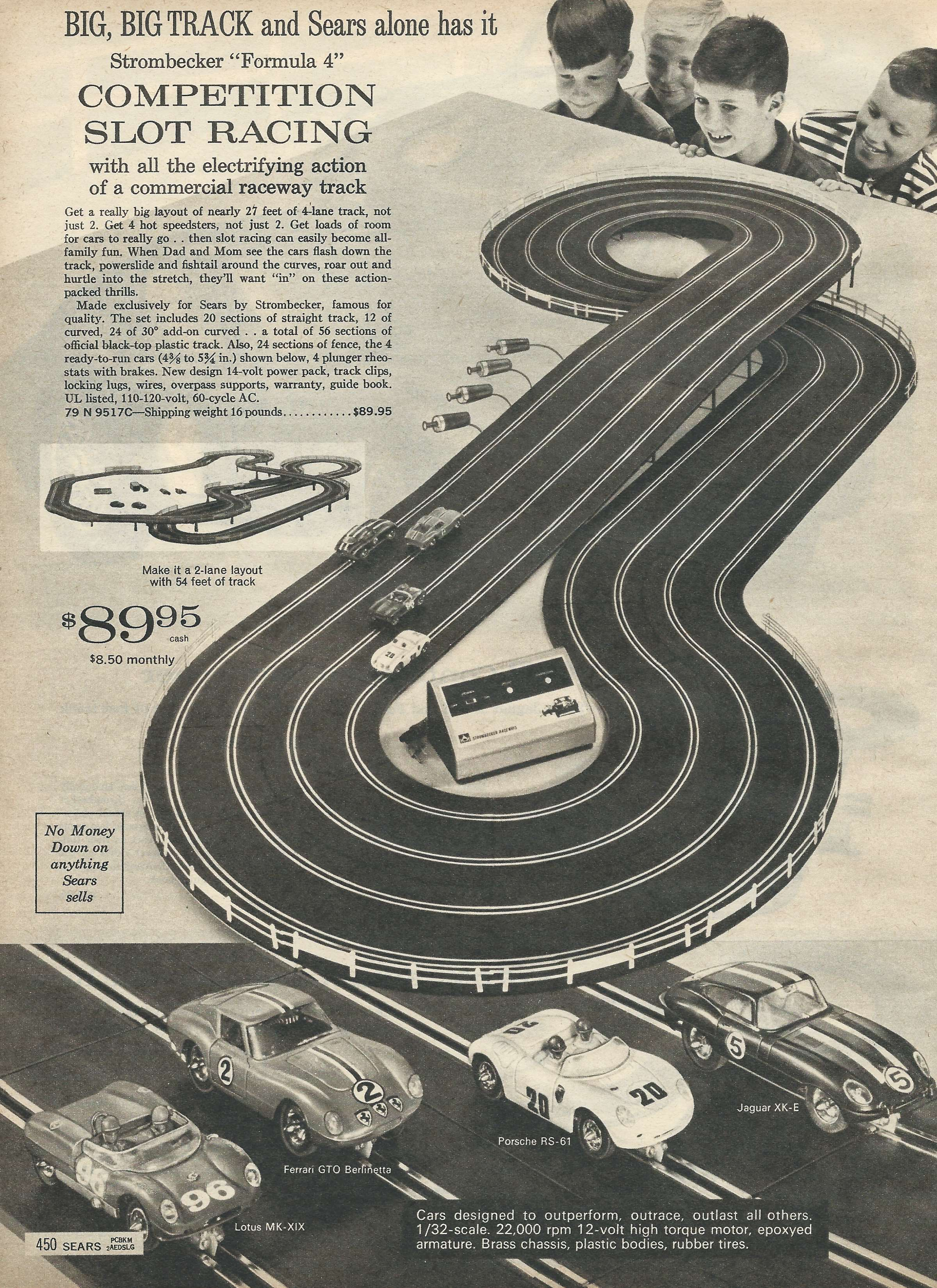 Wiring A Four Lane Slot Car Track Library Strombecker 4 Set For Xmas